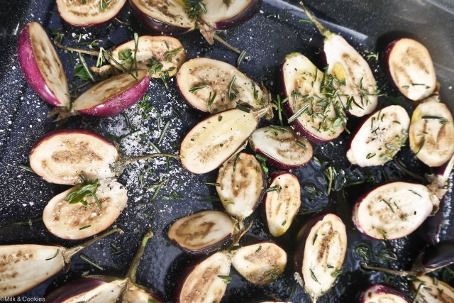 Roasted Eggplant/Aubergine  | Milk & Cookies