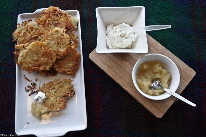 Channukah latka potato pancake recipe| Milk and Cookies -11