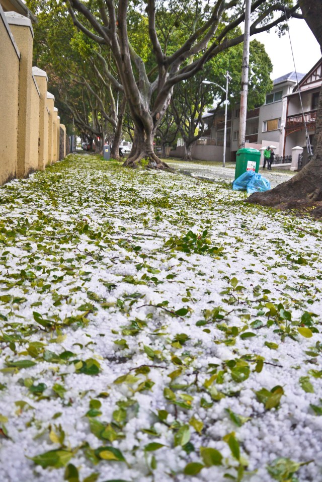 Hail in Cape Town | Milk and Cookies SA