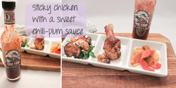 Sticky chicken with sweet chilli-plum sauce header | Milk and Cookies ...