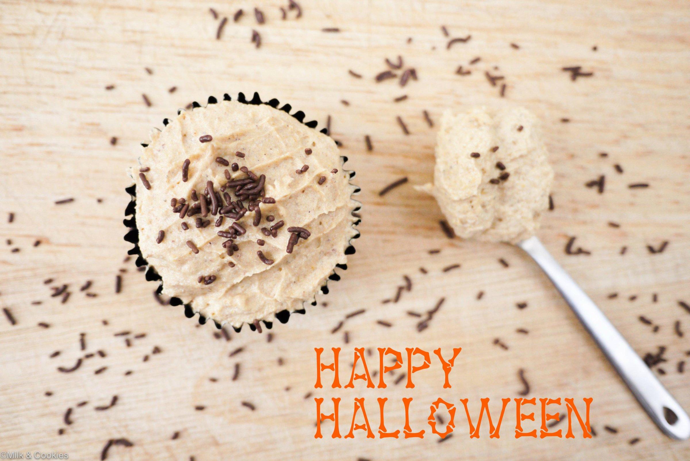 Butternut pumpkin pie cupcakes Milk and Cookies