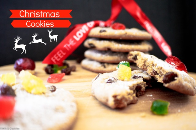 Christmas Cookies with fruitcake recipe  Milk and Cookies